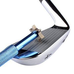 LEORX Club de golf Taille-crayon Groove Outil avec 6emporte-pièces, Bleu