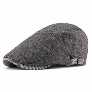 Men Classic Retro Cotton Linen Beret & Men Sunscreen Hat Pour le Printemps, Été, Automne