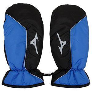 Mizuno 2018 Mens Golf Winter Thermal Mittens Breathable Golf Gloves Black/Blue One Size