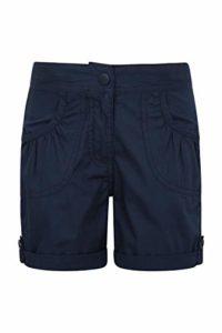Mountain Warehouse Short fille Ado 100% Coton été Taille élastiquée Confort Shore Bleu marine 5-6 ANS