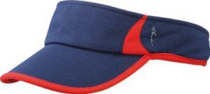 Myrtle Beach Running Pare-soleil Uni Taille unique Bleu – Bleu marine/rouge