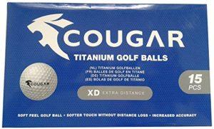 NASCOM ® Balles de golf 15 pcs Cougar Titanium
