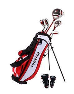 précis X7Junior complète club de golf pour enfants–3tranches d'Âge Tailles disponibles–garçons et filles–La Main droite et main gauche., Red Ages 6-8