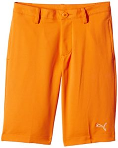 Puma Golf Tech Short Garçon Orange FR : 14 ans (Taille Fabricant : 164)