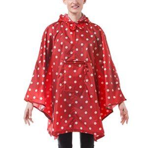 reisenthel poncho cape de pluie – couleur motif rouge avec des points blancs – AN3014