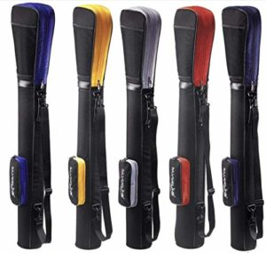 Sac de golf/pencilbag/reisebag/rang ebag/pistolbag/tragebag avec capot de protection intégrée et poche extérieure en couleur: noir–rouge