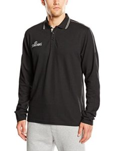 Spalding 3002796 Polo manches longues Homme Noir/Argent FR : XL (Taille Fabricant : XL)
