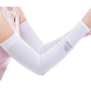 Unisex Outdoor Sunscreen vêtements bras soins de la peau respirant cyclisme soleil manches de protection – blanc