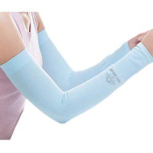 Unisex Outdoor Sunscreen vêtements bras soins de la peau respirant cyclisme soleil manches de protection – Bleu