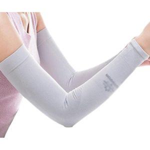 Unisex Outdoor Sunscreen vêtements bras soins de la peau respirant cyclisme soleil manches de protection – Gris