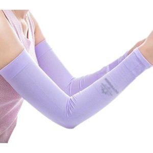 Unisex Outdoor Sunscreen vêtements bras soins de la peau respirant cyclisme soleil manches de protection – Violet