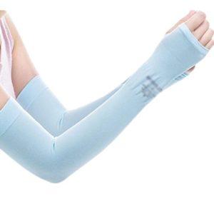 Unisex Outdoor Sunscreen vêtements mitaines Respirant cyclisme soleil manches de protection-Bleu