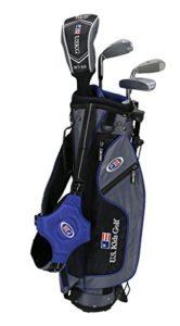 «U.S. enfants 2017Golf Ultra léger, 4support de club de golf avec ensemble de sac (114,3cm de hauteur), Enfant, gris/bleu