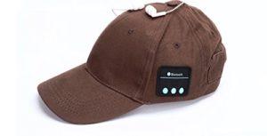Veligoo Casque sans fil intelligent de chapeau de musique de Bluetooth de casquette de baseball de Bluetooth avec le microphone (café)