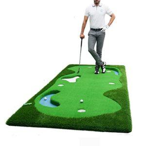 WENZHE Golf Tapis De Putting Formation Des Eaux Putt Pratique Propre Pente Section Professionnelle, 1,5 * 3,8 M