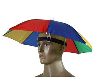 Westeng 1pièce Golf Pêche Camping Headwear Cap Soleil Chapeau de parapluie 55 cm de diamètre, multicolore