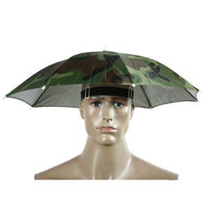 Westeng 1pièce Golf Pêche Camping Headwear Cap Soleil Chapeau de parapluie 55cm de diamètre