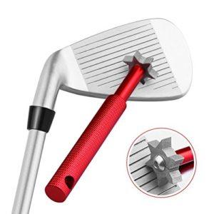 WINOMO Golf Club Groove Sharpener outil de nettoyage Golf Club avec six arêtes de coupe (rouge)