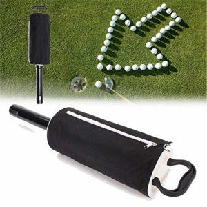 XIAOLULU Ramassage des balles de Golf Putter Sac Portable Golf Shag 60 Balles Hop-Poche Pratique Pick Up Sac Boule de Stockage (Couleur : Noir, Taille : Taille Unique)