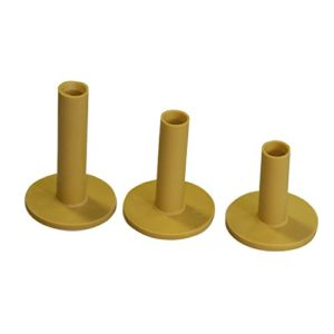 Yellow Color Golf Rubber Tee, 3PCS Packed