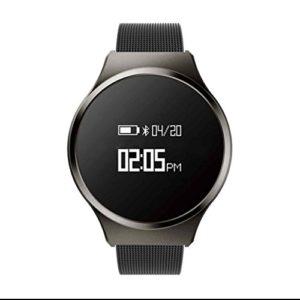 Bracelet Cardio Tracker d'Activité Smart Bracelet avec Podomètre,Moniteur de Sommeil, Calculateur de Distance, Alertes SNS avec Caméra/surveillance du sommeil/analyse podomètre pour Android et IOS