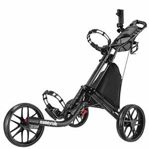 Caddytek Ez-fold de golf à 3roues Push Cart-dark Gris avec sac de rangement, gris foncé