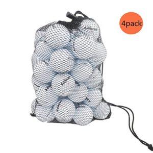CZ-XING Balles de golf Sac filet en nylon filets Sac pochette Sac de transport de stockage de support pour Pratiquer Balle de golf Balles de golf Tennis 454x Balle de golf en maille Sac