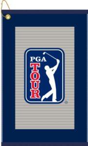 devant Serviettes de sport PGA Tour Gris Pinstripe Serviette de golf