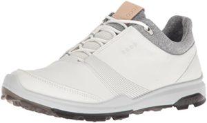 Ecco Women Biom Hybrid 3, Chaussures de Golf Femme, Blanc (White/Black 51227), 40 EU
