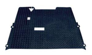 EZ-GO 2001+ Golf Cart Rubber Diamond Plate Floor Mat Black by CartPartsUSA