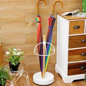 FAFZ Porte-parapluies Porte-parapluies en Style Européen Porte-parapluies en piquage à rayures rondes Porte-bagages Support de parapluie