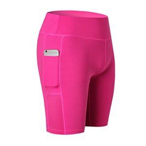 Femme Leggings Compression Short Base Layers de Sport Pantalon Court Fonctionnement Thermique leggings Fitnesse Gym Collants Shorts Yoga Pants Poche Survêtement Bas Sous-vêtements Slim Short S Juleya