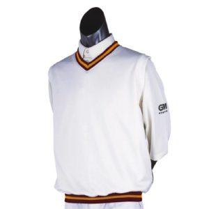 GM & Gunn Moore Teknik-Pull de Cricket-Sans manches Bordeaux/ambre petit