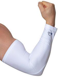 iQ-UV 300 Chauffe-Bras Manchettes Anti-UV Mixte Adulte, Blanc, FR : S (Taille Fabricant : S)