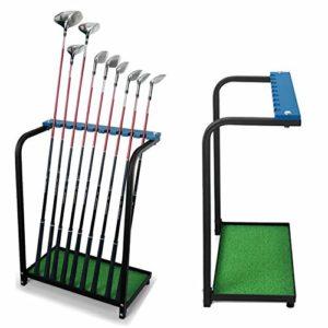 Kofull organiseurs Club de golf Club de golf en métal durable écran étagère de stockage Equipment-can 9clubs de golf Club Green