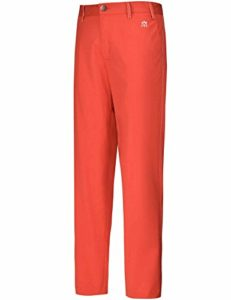 Lesmart Pantalon Golf Homme Chino Stretch Coupe Droite Long Casual Regular Taille 36W/32L Taille 91cm Rouge