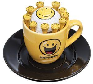 'Tasse à espresso avec balle de golf «Smiley et tees   un beau Golf–Cadeau d'anniversaire–Cadeau
