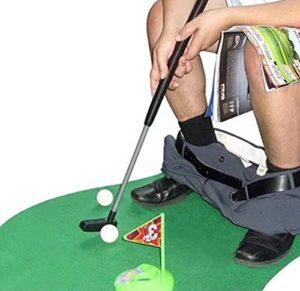 Mini-golf de toilettes,Mini-golf pour toilettes Set Jeu de Golf Set pour la salle de bain 6 pièces,pour adulte enfants Funny donnant Cadeau jouet Trainer Lot.