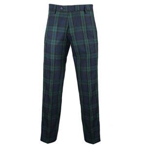 Murray Broad Sword – Pantalon de golf – tartan Black Watch – noir/vert – US 36