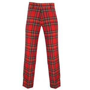 Murray Broad Sword – Pantalon de golf – tartan Royal Stewart – rouge – US 38