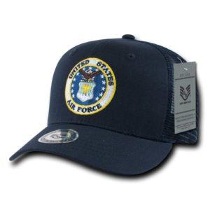 Rapiddominance Air Force Back to the Basics Casquette en maille, Homme, bleu marine
