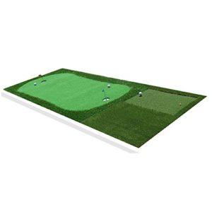Tapis De Golf Exercices De Swing De Verts De Golf D'intérieur Putt Practice Blanket Rods De Découpe Exerciseur Approprié À Toutes Sortes De Barres Enseignement De Foule