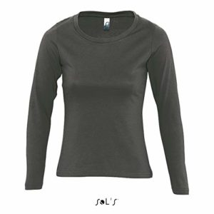 Teeshirt Majestic Femme Gris Fonce – gris – 2XL
