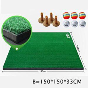 WENZHE Golf Tapis De Putting Formation Tapis De Golf Tablette De Frappe Stade Dédié Remplissage / 3D, 1,5 * 1,5 M ( Couleur : B )