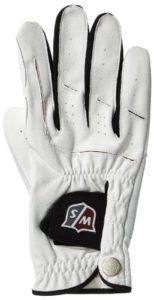 Wilson Staff WGJA00920M Homme Gant de Golf, Fabrication Multi-Tissus, Taille M, Main Droite, MRH, Blanc, Grip Plus