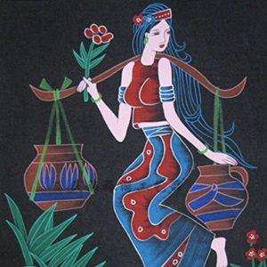 yl Batik Bricoler Tissu Peinture murale Peinture, 2