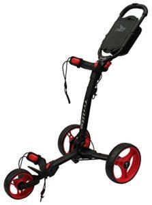 Axglo TriLite 3 roues-Chariot de Golf-Noir/Rouge-Lot de 2 accessoires