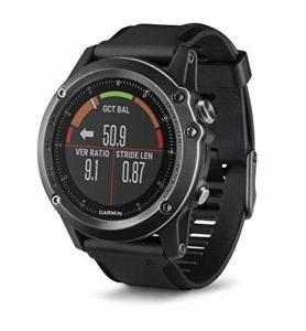 Garmin Fēnix 3 Sapphire Gray HR – Montre GPS Multisports Outdoor Cardio Poignet – Bracelet Noir