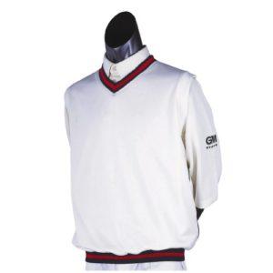 GM & Gunn Moore Teknik-Pull de Cricket-Sans manches Bleu marine/Rouge xx-large
