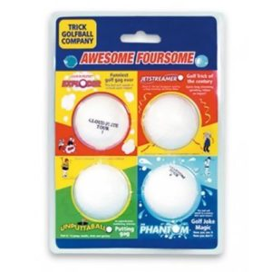 Trick Golf Balls Awesome Foursome Set of 4 by Trick Golf Company